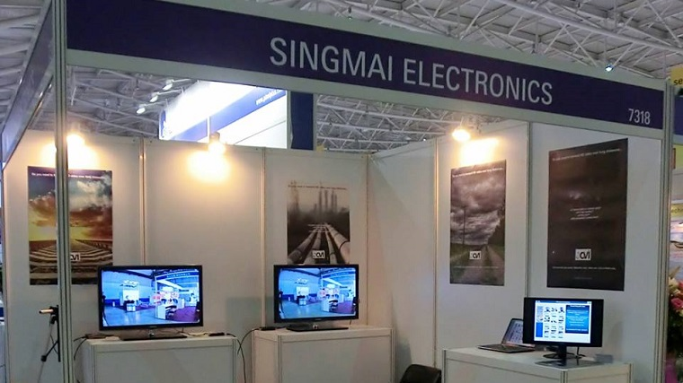 SingMai Electronics stand at Secutech, Taipei